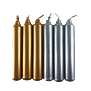Chime Candles: Silver & Gold