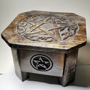 Pentagram Wood Altar Table