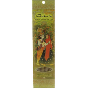 Gokula Incense Sticks - Myrrh, Vanilla, Tulasi (Holy Basil)